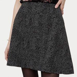 LOFT Herringbone Pull-On Flippy Skirt